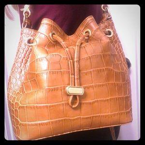 "Brahmin ""Maxine"" bucket style shoulder bag"
